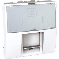 Розетка компьютерная RJ45 (кат. 5е) FTP экранированная, 2м, Schneider Electric Unica, белый
