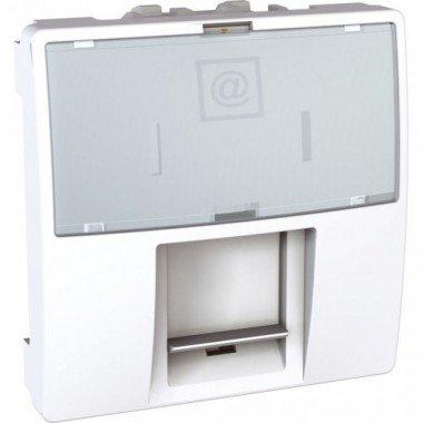 Розетка компьютерная RJ45 (кат. 5е) FTP экранированная, 2м, Schneider Electric Unica, белый - описание, характеристики, отзывы