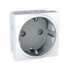 Розетка с заземлением, с защитными шторками, 2м, Schneider Electric Unica, белый
