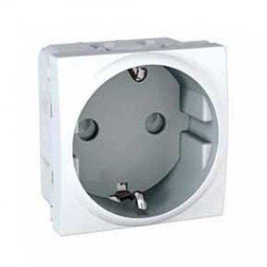 Розетка с заземлением, с защитными шторками, 2м, Schneider Electric Unica, белый - описание, характеристики, отзывы