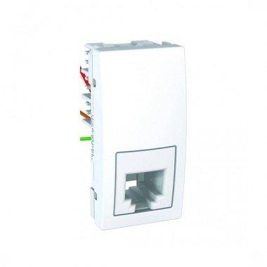 Розетка телефонная RJ11, 1м, Schneider Electric Unica, белый - описание, характеристики, отзывы