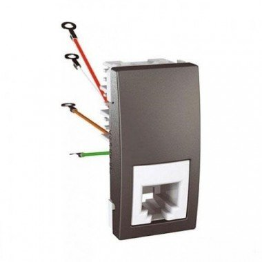 Розетка телефонная RJ11, 1м, Schneider Electric Unica, графит - описание, характеристики, отзывы