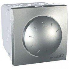 Светорегулятор поворотно-нажимной, 2м, Schneider Electric Unica, алюминий