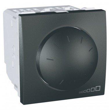 Светорегулятор поворотно-нажимной, 2м, Schneider Electric Unica, графит - описание, характеристики, отзывы