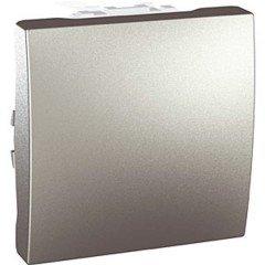 Выключатель 1-клавишный, 2м, Schneider, Electric Unica, алюминий
