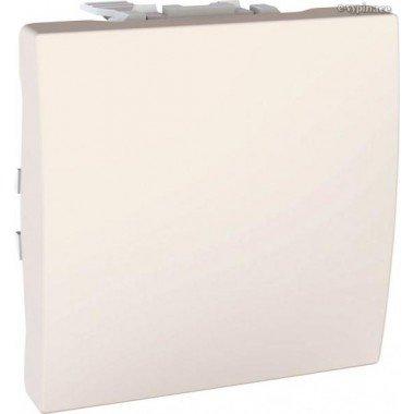 Выключатель 1-клавишный, 2м, Schneider, Electric Unica, слоновая кость - описание, характеристики, отзывы