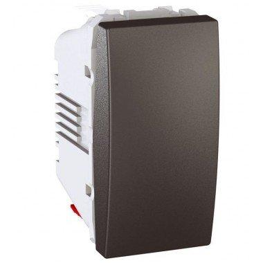 Выключатель кнопочный 1-клавишный, 1м, Schneider Electric Unica, графит - описание, характеристики, отзывы