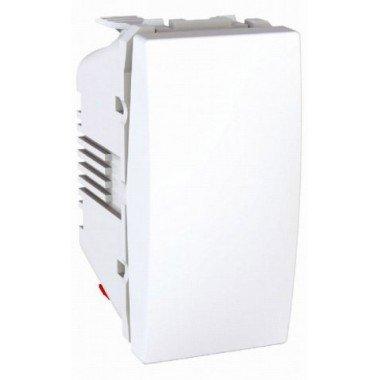 Выключатель кнопочный 1-клавишный, 1м, Schneider Electric Unica, белый - описание, характеристики, отзывы