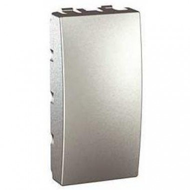 Заглушка 1-модульная Schneider Electric Unica, алюминий - описание, характеристики, отзывы