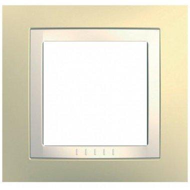 Рамка 1-постовая Schneider Electric Unica  Basic, кремовый - описание, характеристики, отзывы