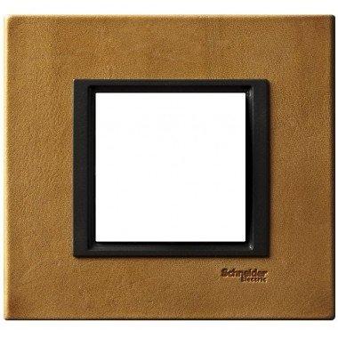 Рамка 1-постовая Schneider Electric Unica CLASS, кожа Сахара - описание, характеристики, отзывы