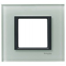 Рамка 1-постовая Schneider Electric Unica CLASS, матовое стекло
