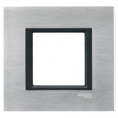 Рамка 1-постовая Schneider Electric Unica CLASS, серебристый алюминий - описание, характеристики, отзывы