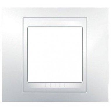 Рамка 1-постовая Schneider Electric Unica Plus, белый/белый - описание, характеристики, отзывы