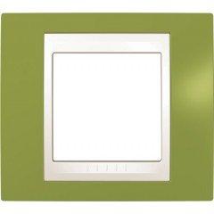 Рамка 1-постовая Schneider Electric Unica Plus, фисташковый/слоновая кость