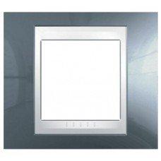 Рамка 1-постовая Schneider Electric Unica Plus, голубой лед/белый