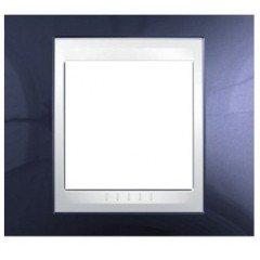 Рамка 1-постовая Schneider Electric Unica Plus, индиго/белый