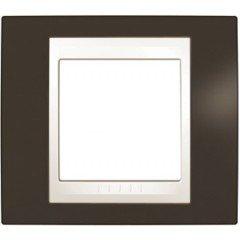 Рамка 1-постовая Schneider Electric Unica Plus, какао/слоновая кость