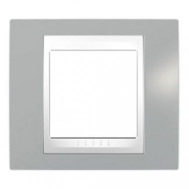Рамка 1-постовая Schneider Electric Unica Plus, туманно-серый/белый - описание, характеристики, отзывы