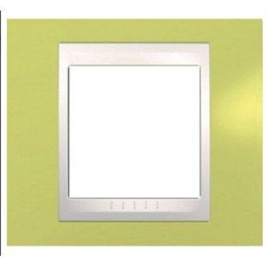 Рамка 1-постовая Schneider Electric Unica Plus, зеленое яблоко/бежевый - описание, характеристики, отзывы