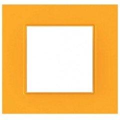 """Рамка 1-постовая  Schneider Electric Unica Quadro, """"Cytrus"""" (оранжевый)"""