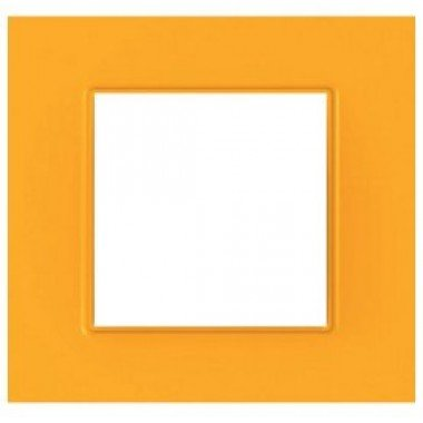 """Рамка 1-постовая  Schneider Electric Unica Quadro, """"Cytrus"""" (оранжевый) - описание, характеристики, отзывы"""