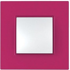 "Рамка 1-постовая  Schneider Electric Unica Quadro,""Lipstyk"" (малиновый)"