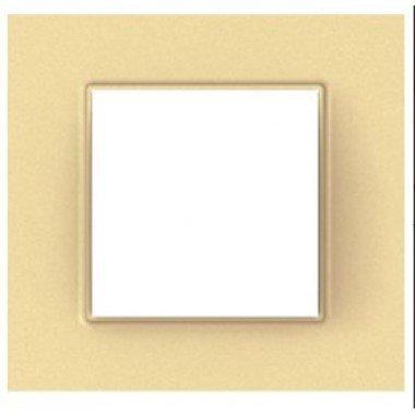 Рамка 1-постовая Schneider Electric Unica Quadro, бронзово-жемчужный - описание, характеристики, отзывы