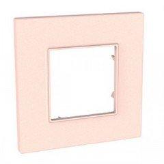Рамка 1-постовая Schneider Electric Unica Quadro, розово-жемчужный