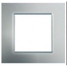 Рамка 1-постовая Schneider Electric Unica Quadro, серебро