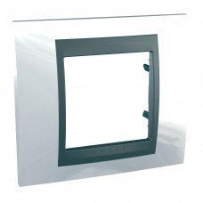Рамка 1-постовая  Schneider Electric Unica ТОР, белоснежный/графит