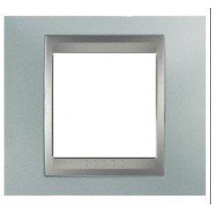 Рамка 1-постовая  Schneider Electric Unica ТОР, изумрудный/алюминий