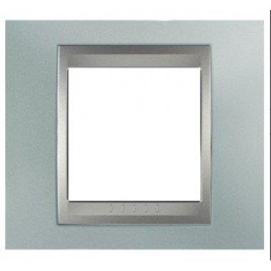 Рамка 1-постовая  Schneider Electric Unica ТОР, изумрудный/алюминий - описание, характеристики, отзывы