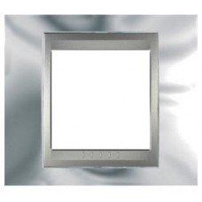 Рамка 1-постовая  Schneider Electric Unica ТОР, хром глянцевый/алюминий