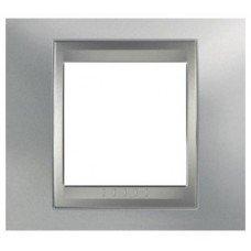 Рамка 1-постовая  Schneider Electric Unica ТОР, хром матовый/алюминий