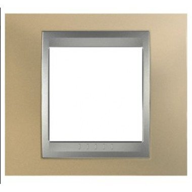 Рамка 1-постовая  Schneider Electric Unica ТОР, оникс медный/алюминий - описание, характеристики, отзывы