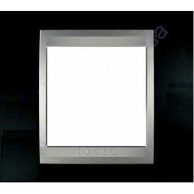 Рамка 1-постовая  Schneider Electric Unica ТОР, родий/алюминий - описание, характеристики, отзывы