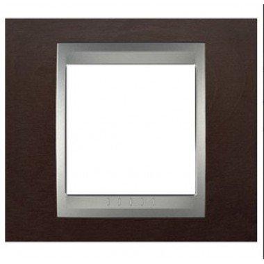 Рамка 1-постовая  Schneider Electric Unica ТОР, венге/алюминий - описание, характеристики, отзывы