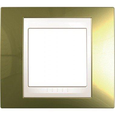 Рамка 1-постовая  Schneider Electric Unica ТОР, золото/слоновая кость - описание, характеристики, отзывы