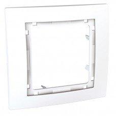 Рамка 1-постовая наружная Schneider Electric Unica Colors, белый