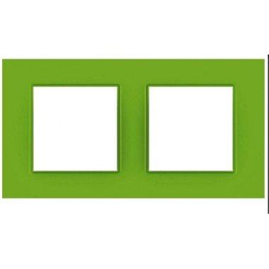 """Рамка 2-постовая  Schneider Electric Unica Quadro, """"Bio"""" (зелёный) - описание, характеристики, отзывы"""