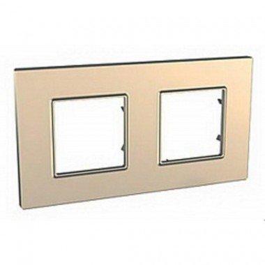 Рамка 2-постовая Schneider Electric Unica Quadro, медь - описание, характеристики, отзывы