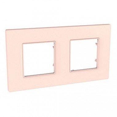 Рамка 2-постовая Schneider Electric Unica Quadro, розово-жемчужный - описание, характеристики, отзывы