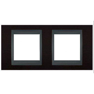 Рамка 2-постовая  Schneider Electric Unica ТОР, венге/графит - описание, характеристики, отзывы