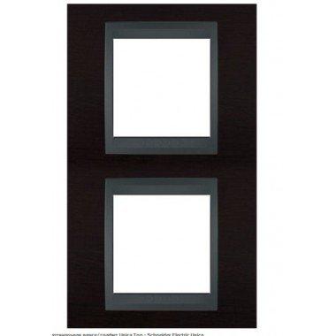 Рамка 2-постовая  вертикальная Schneider Electric Unica ТОР, венге/графит - описание, характеристики, отзывы