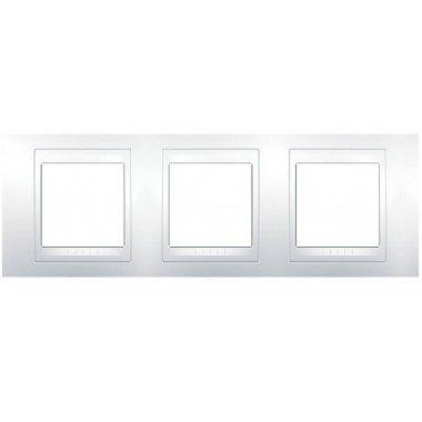 Рамка 3-постовая горизонтальная Schneider Electric Unica Plus, белый/белый - описание, характеристики, отзывы