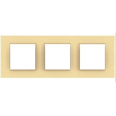 Рамка 3-постовая Schneider Electric Unica Quadro, бронзово-жемчужный - описание, характеристики, отзывы