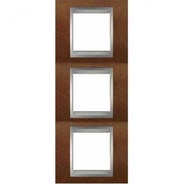 Рамка 3-постовая вертикальная Schneider Electric Unica ТОР, черешня/алюминий - описание, характеристики, отзывы