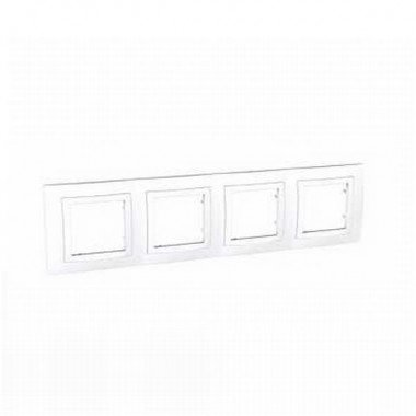 Рамка 4-постовая Schneider Electric Unica  Basic, белый - описание, характеристики, отзывы