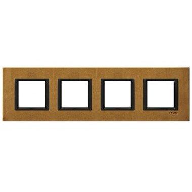 Рамка 4-постовая горизонтальная  Schneider Electric Unica  CLASS, кожа Сахара - описание, характеристики, отзывы